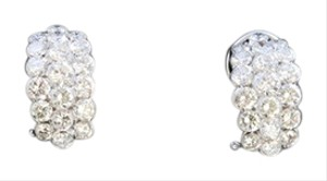Dignity Jewels 18K White Gold And Diamond Earring Round Shape Diamond(invisible Setti