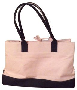 Other Polka Dot Canvas Tote in Black & Pink
