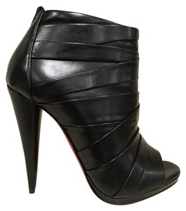Christian Louboutin Drapicone Stiletto Open Toe black Pumps