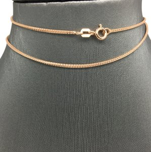 Other Sterling Silver Rose Gold Plated Diamond Cut Chain 16