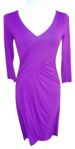 Three Dots short dress Purple on Tradesy