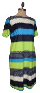 Donna Morgan short dress MULTI Shift Color Stretchy Lined on Tradesy