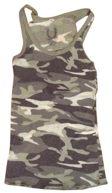 Item - Green Cammo By Tank Top/Cami Size 4 (S)