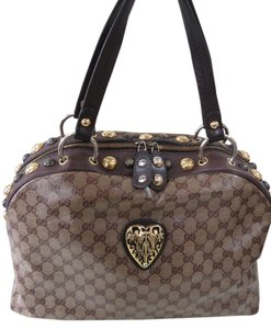 Gucci Gg Monogram Babouska Tote in Brown