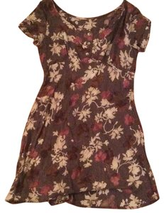 Other short dress Brown Floral Floral on Tradesy