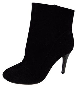 Free People People Fairfax Suede Ankle Heel Black Boots