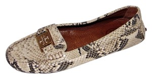 Tory Burch Print Moccasin Grey/Neutral Flats