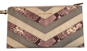 Michael Kors Wristlet in python, white and gray