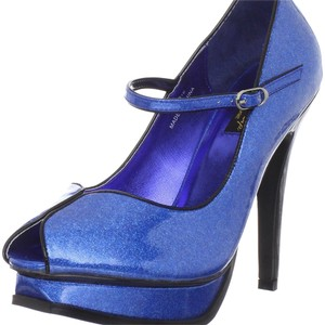 Pin up Couture Blue Platforms