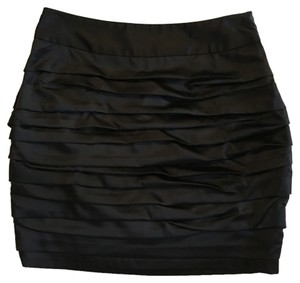 Express Ruched Mini Skirt Black