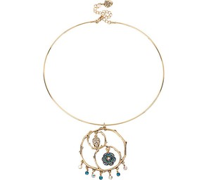 Betsey Johnson Betsey Johnson Skulls and Roses Wire Necklace