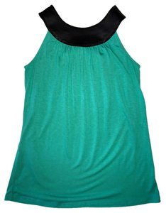 Express Sequin Round Neckline Top Teal/Black