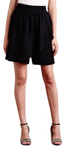 Anthropologie Ruffle High Waist Dress Shorts black