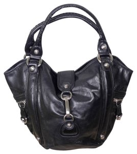 CETTU Italy Leather Tote in BLACK
