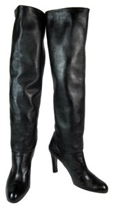 Stuart Weitzman Black Leather Tall Boots