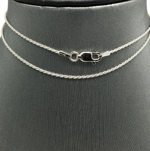 Other Sterling Silver White Gold Rhodium Rope Chain 20