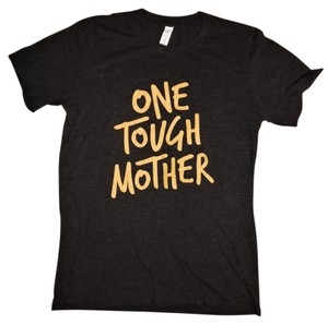 Other Tee One Tough Mom Graphic T Shirt Charcoal, Gold
