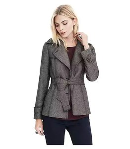 Banana Republic Belted Houndstooth Tipo Jacket