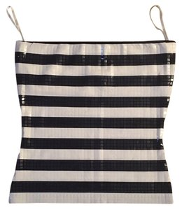 The Limited Striped Top Black / White