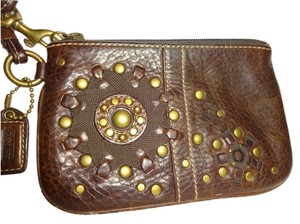 Coach Wristlet in Brown