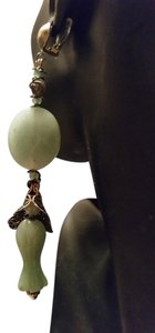Artisan Original Jewelry Designs By Me! Hand-Carved Ornate Jade-Aventurine-Pyrite Filigree Long 5