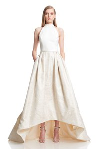 Theia High/low Jacquard Ballgown Wedding Dress