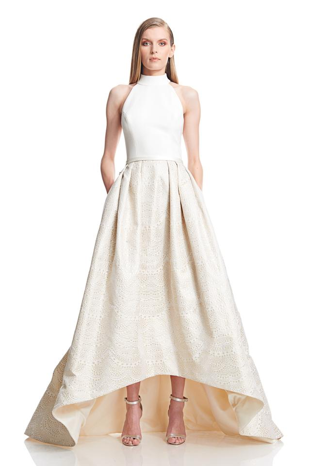 Theia High Low Jacquard Ballgown Wedding Dress On Sale 53