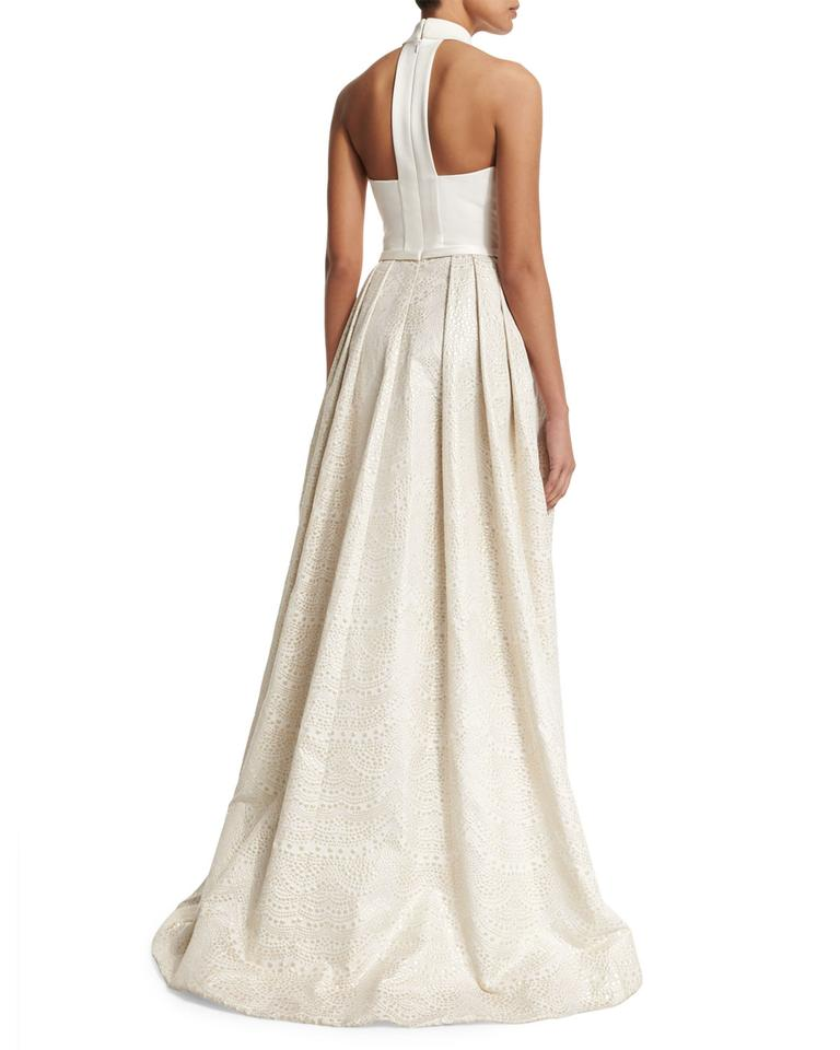 Theia Wedding Gown: Theia High/low Jacquard Ballgown Wedding Dress On Sale, 53