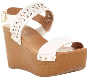 Tommy Hilfiger white tan Wedges