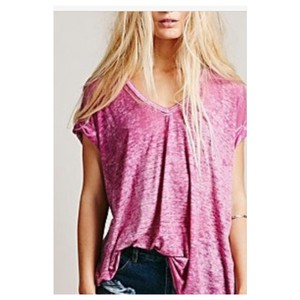 Free People T Shirt Dark pink