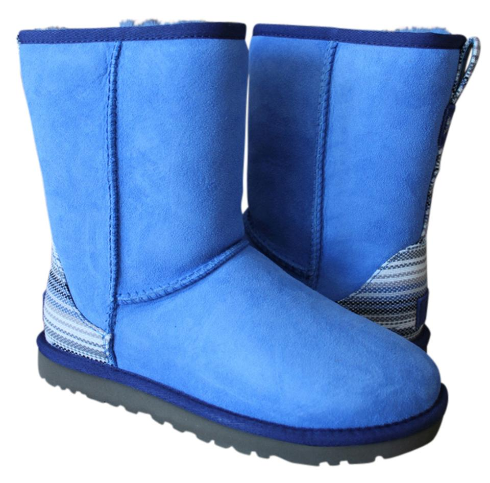 267a0b87cc6 UGG Australia Skyline Blue Classic Short Water Resistant Shearling Suede  Boots/Booties Size US 7 Regular (M, B) 37% off retail
