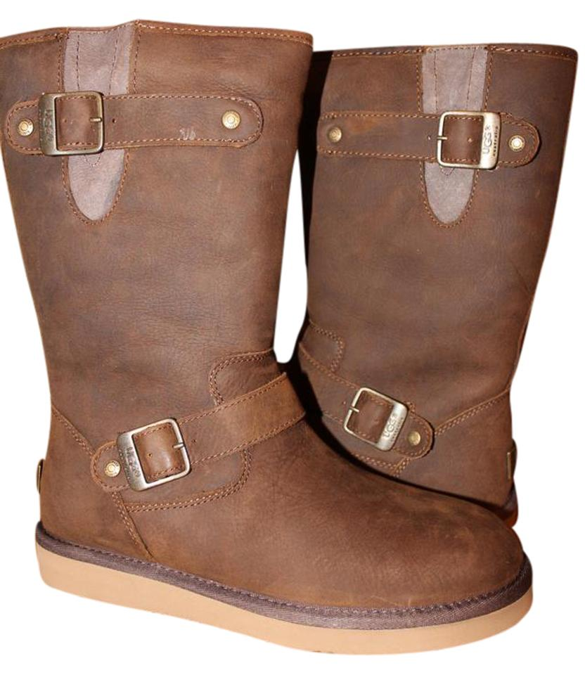 bde8ba2cf3e UGG Australia Brown Sutter Water Resistant Shearling Leather Boots/Booties  Size US 6 Regular (M, B) 36% off retail
