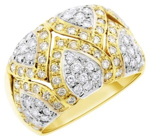 Other 1.00 Carat Natural Diamond Mosaic Design Cocktail Ring In Solid 14k