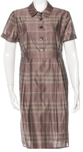 Burberry short dress Beige, Purple, Grey Nova Check Plaid Monogram on Tradesy