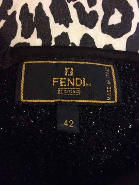 Fendi Italy Blouse T-shirt Top Black