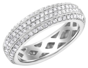 Other 0.90 Carat Natural Diamond Micro Pave Set Size-able Eternity Band