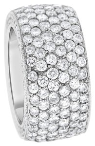 5.99 Carat Natural Diamonds All Around Eternity Wide Band Ring In 18k