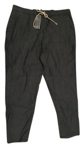 Eileen Fisher Relaxed Pants Grey-Black