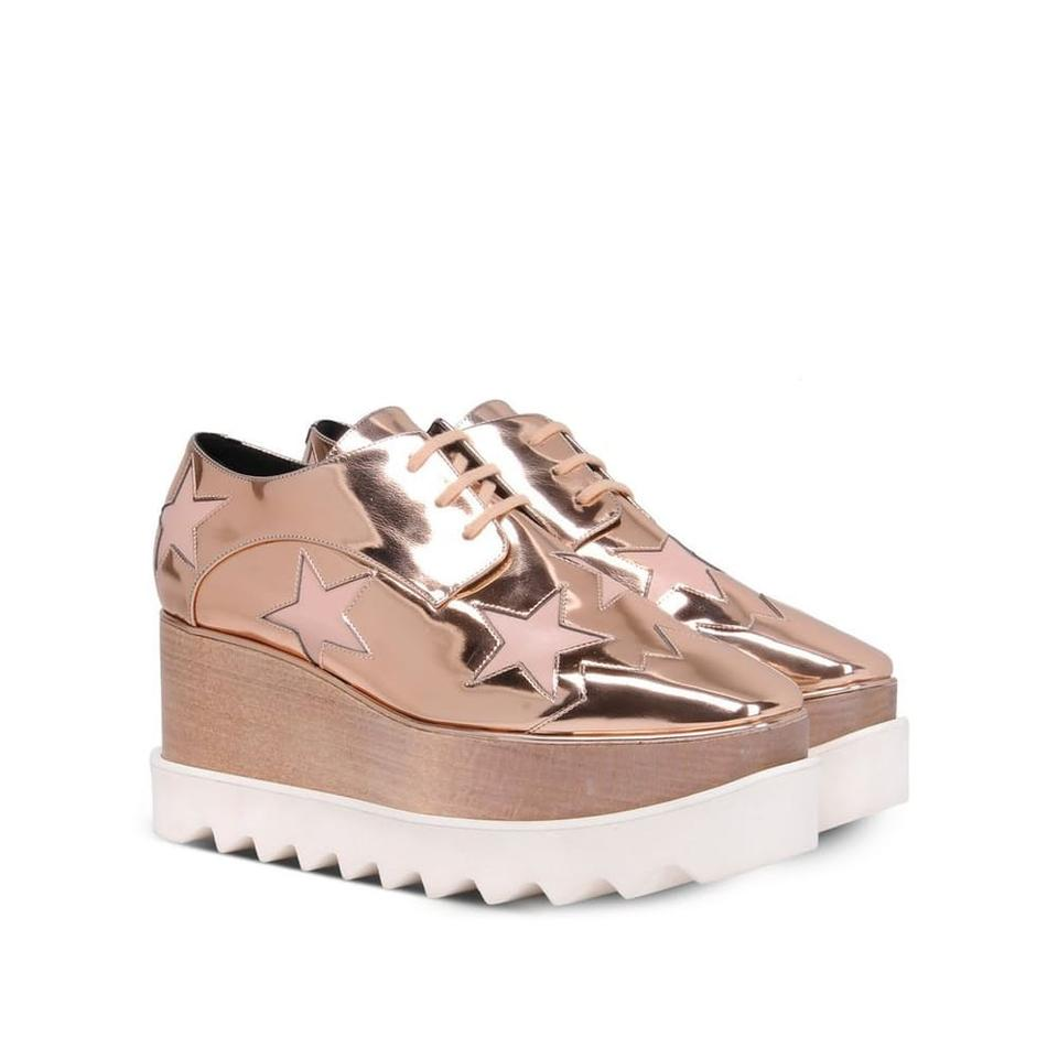 Stella McCartney Copper Elyse Elyse Copper Star Platforms 75b044