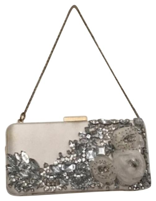 Item - Bejeweled White Silk Clutch
