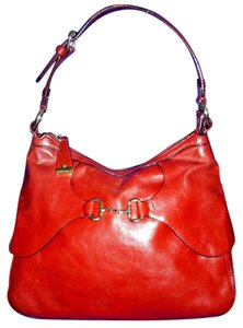 Antonio Melani Italian Leather Horsebit Skirted Hobo Bag