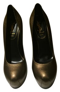 Saint Laurent Tribtoo Tribute Gold/Bronze Pumps