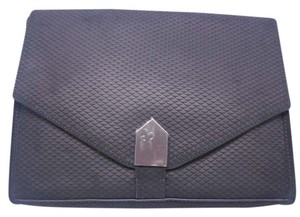 Allibelle Leather Textured Black Clutch