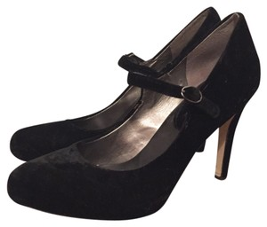 Banana Republic Mary Janes Velvet New Years Heels Black Pumps