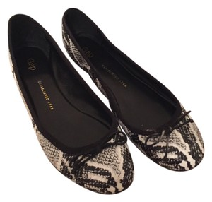 Gap Snakeskin Tory Burch Ballerina Animal Print Black White Flats