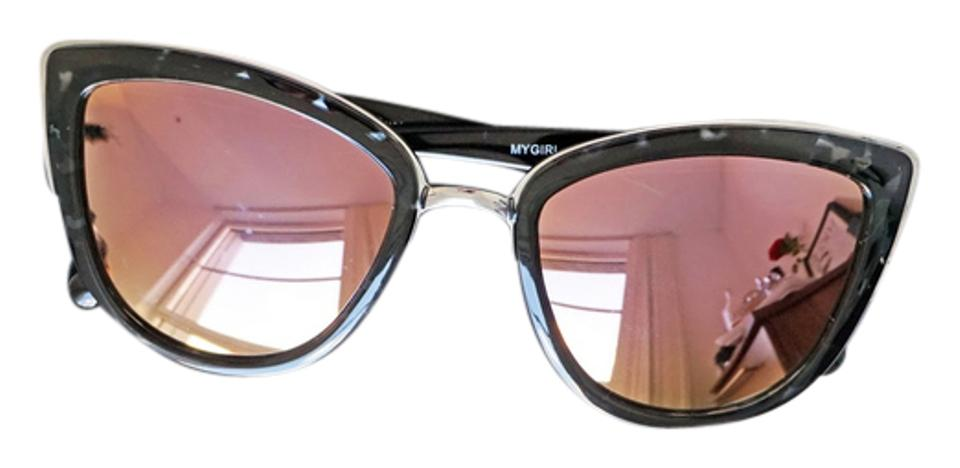 5f89a1ff9a Quay My Girl Mirrored Cat Eye Sunglasses Tortoise and Pink Image 0 ...