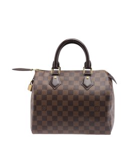 Louis Vuitton Lv Damier Ebene Satchel in Brown
