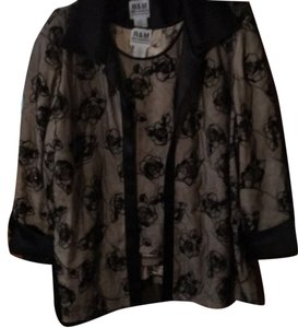 R & M Richards Top black and beige