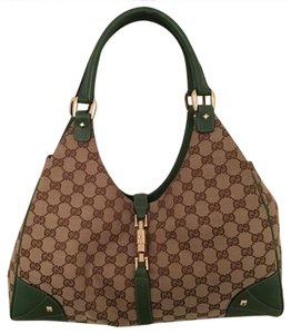 Gucci Tote in brown, deep green