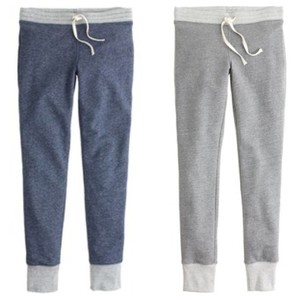 J.Crew Athletic Pants Heather Grey and Blue